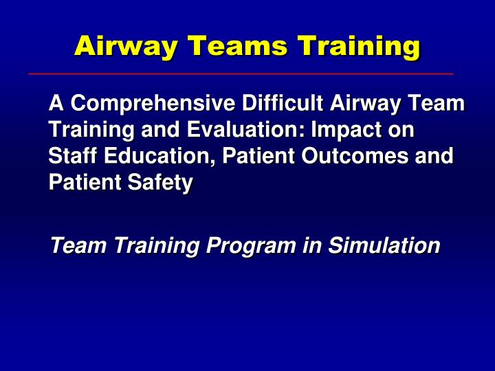 Airway Teams Training