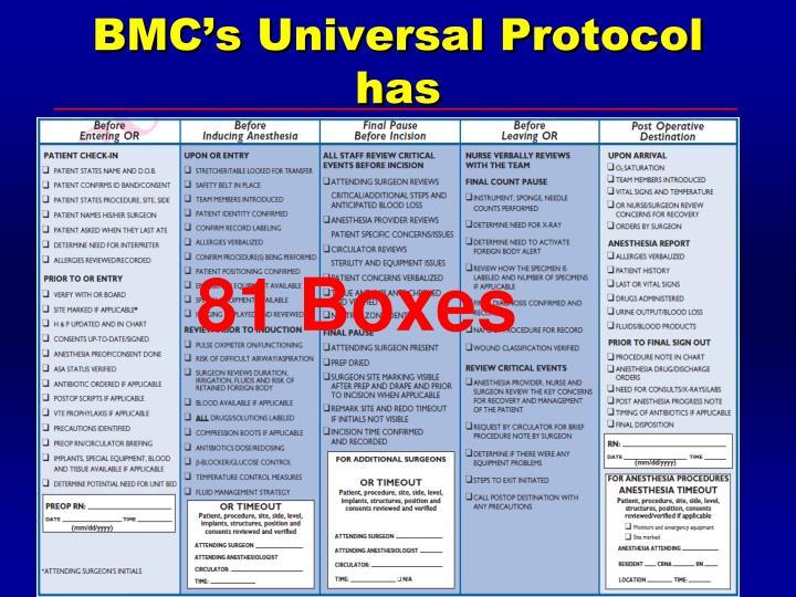 BMC's Universal Protocol