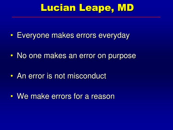 Lucian Leape, MD