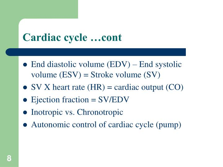 Cardiac cycle …cont