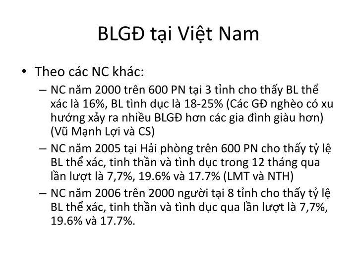 BLGĐ tại Việt Nam