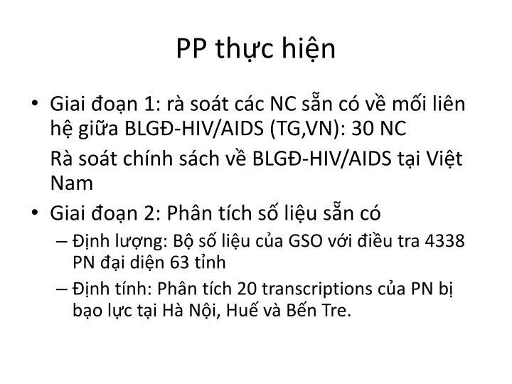 PP thực hiện