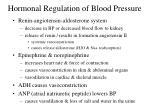 hormonal regulation of blood pressure