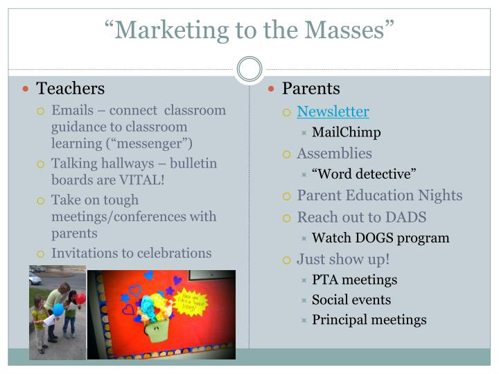 """""""Marketing to the Masses"""""""