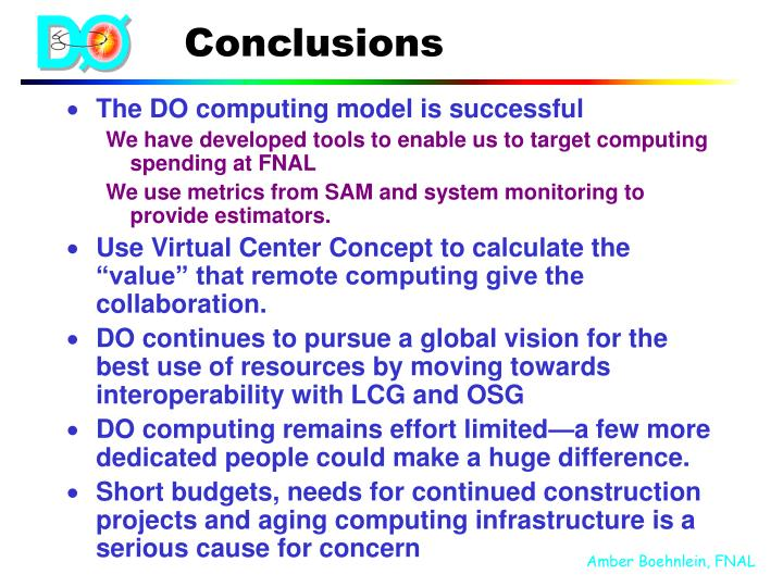 The DO computing model is successful