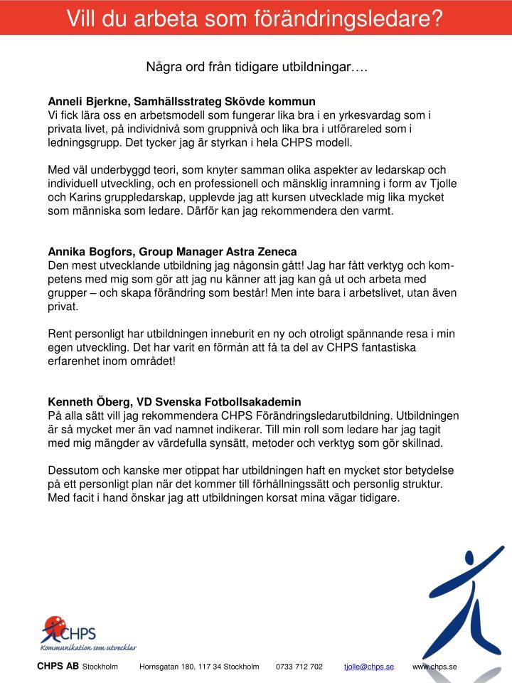 Vill du arbeta som förändringsledare?