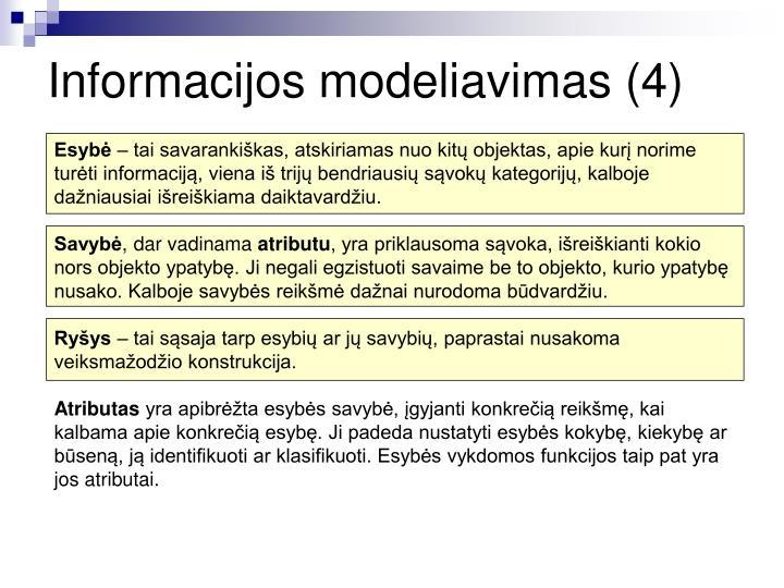 Informacijos modeliavimas