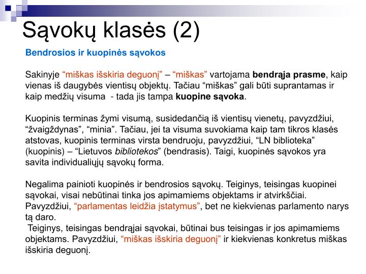 Sąvokų klasės (2)
