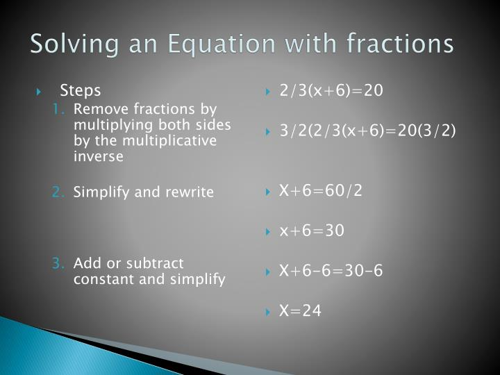 Solving an Equation with fractions