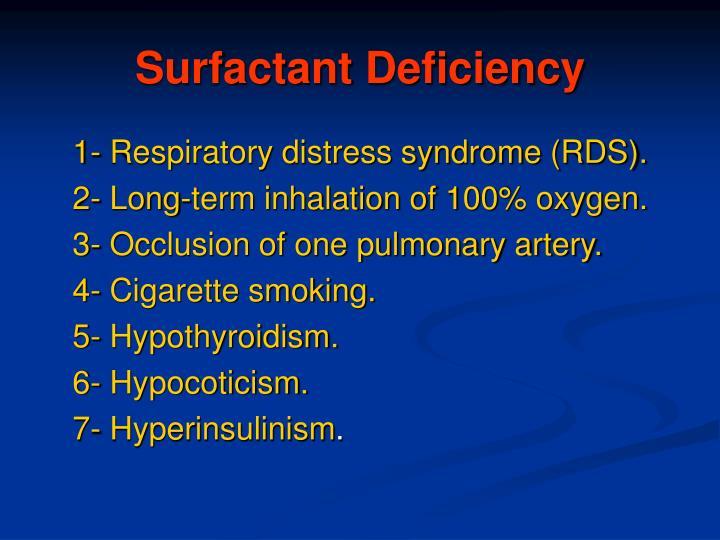 Surfactant Deficiency