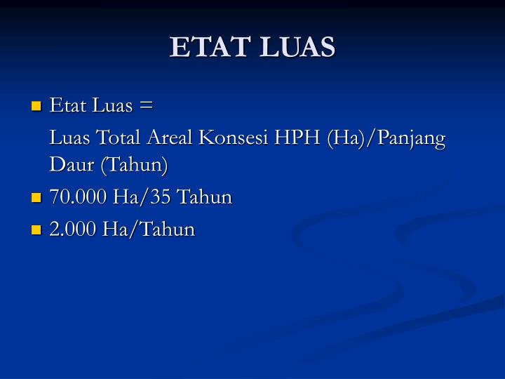 ETAT LUAS