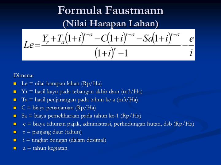 Formula Faustmann