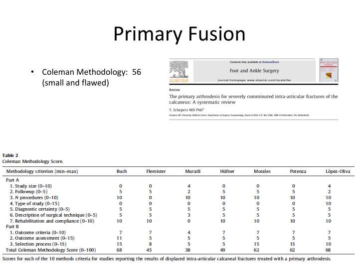 Primary Fusion