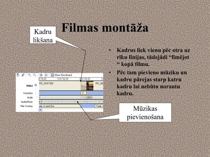 Filmas montāža