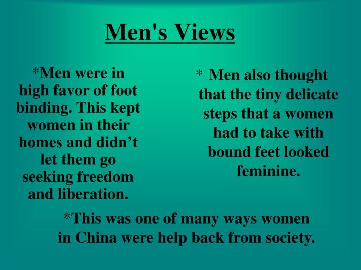 Men's Views
