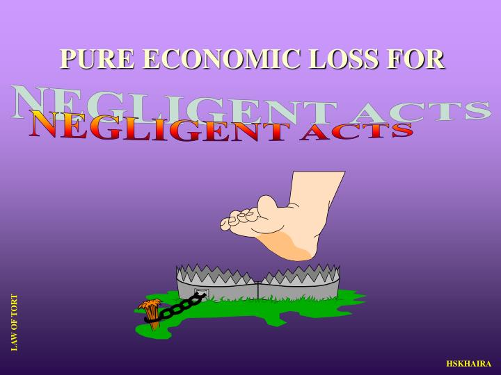 PURE ECONOMIC LOSS FOR