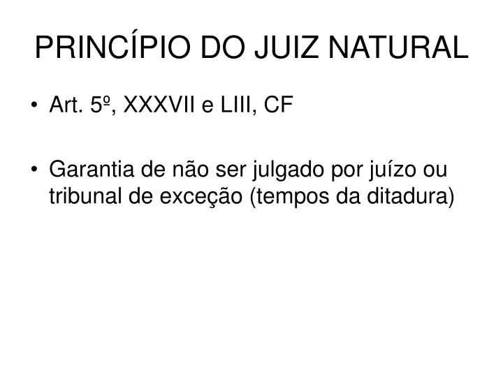 Princ pio do juiz natural