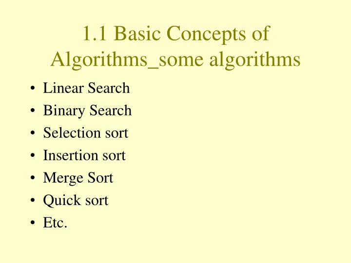 1.1 Basic Concepts of Algorithms_some algorithms