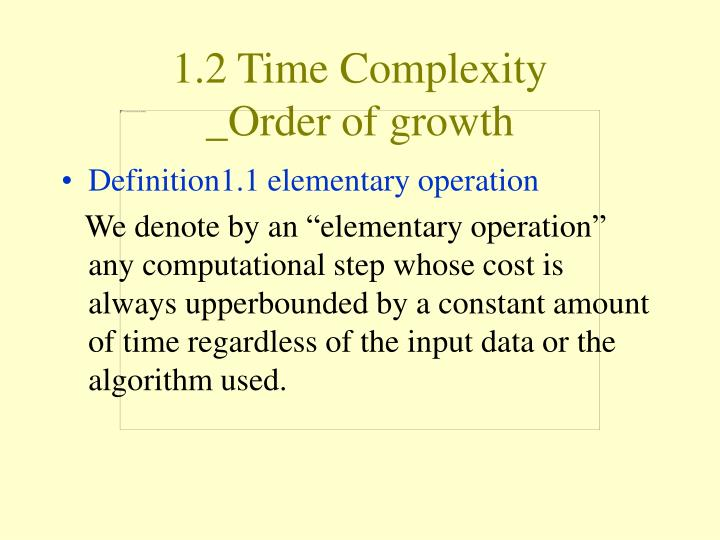 1.2 Time Complexity