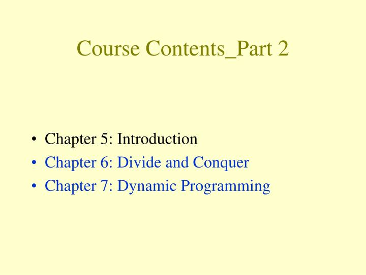 Course Contents_Part 2