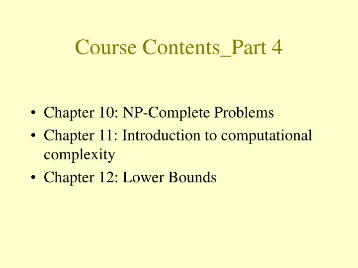 Course Contents_Part 4