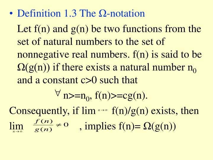 Definition 1.3 The