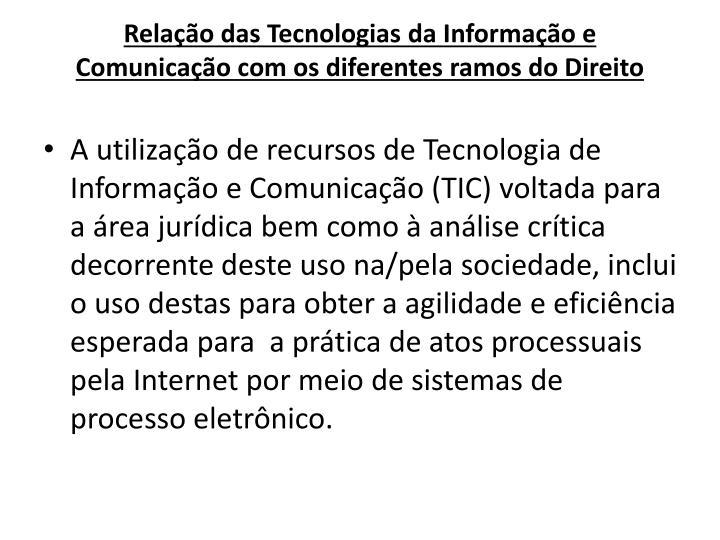 Relação das Tecnologias