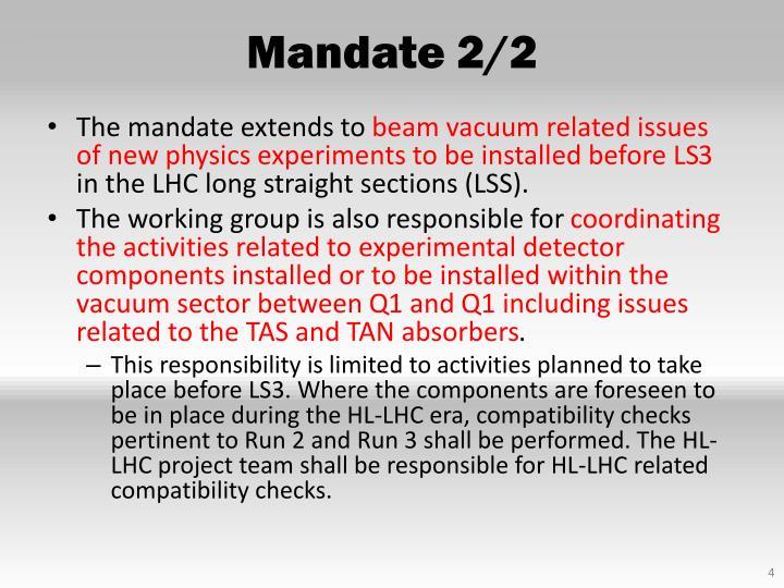 Mandate 2/2