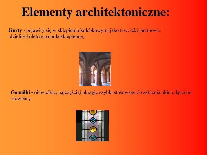 Elementy architektoniczne: