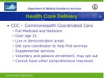 health care delivery4