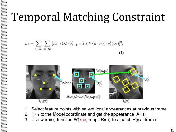 Temporal Matching Constraint