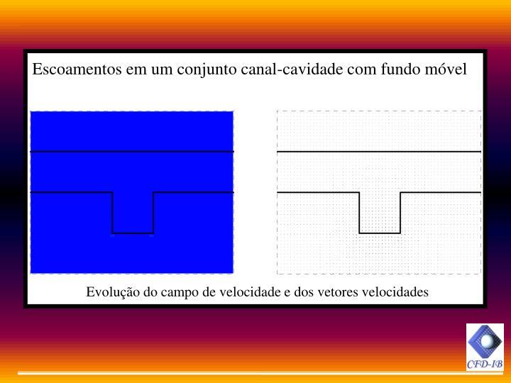 Escoamentos em um conjunto canal-cavidade com fundo móvel