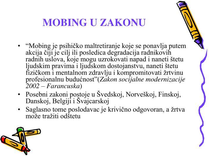 MOBING U ZAKONU