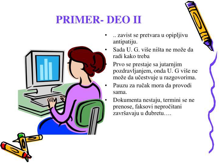 PRIMER- DEO II