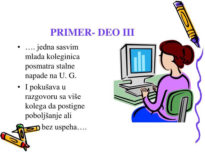 PRIMER- DEO III