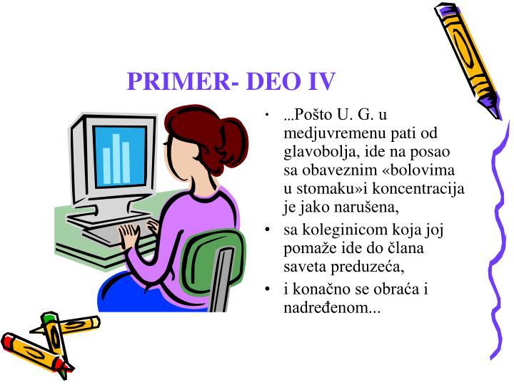 PRIMER- DEO IV