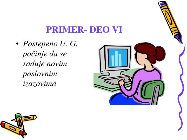 PRIMER- DEO VI