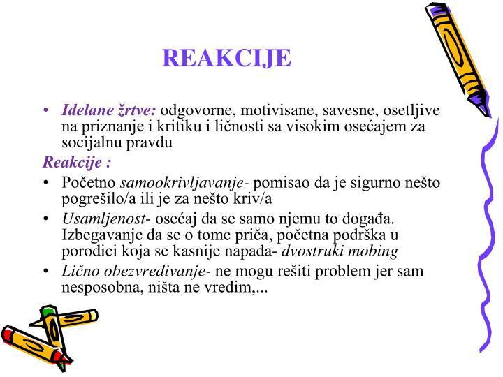 REAKCIJE