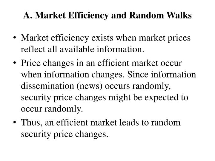 A. Market Efficiency and Random Walks