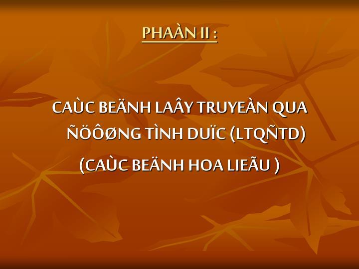 PHAÀN II :