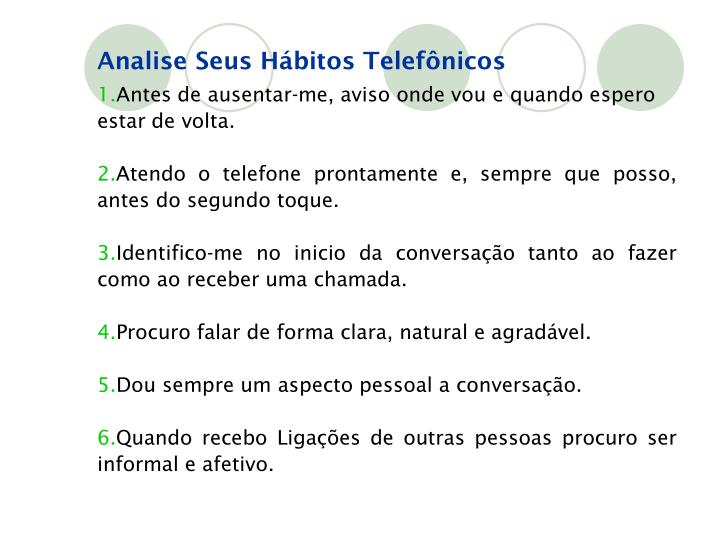 Analise Seus Hábitos Telefônicos