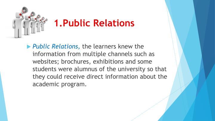 1.Public Relations