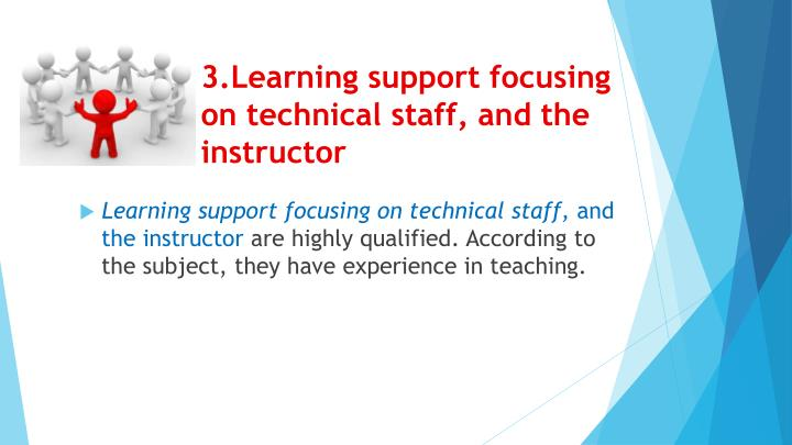3.Learning support focusing on technical staff,
