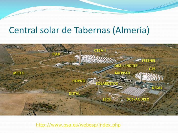 Central solar de Tabernas (Almeria)