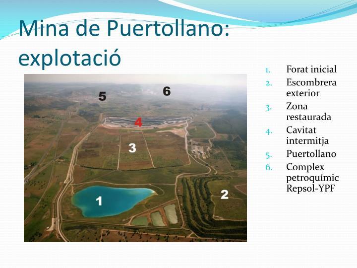Mina de Puertollano: explotaci