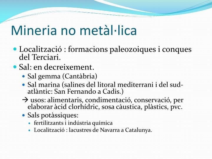 Mineria no metllica