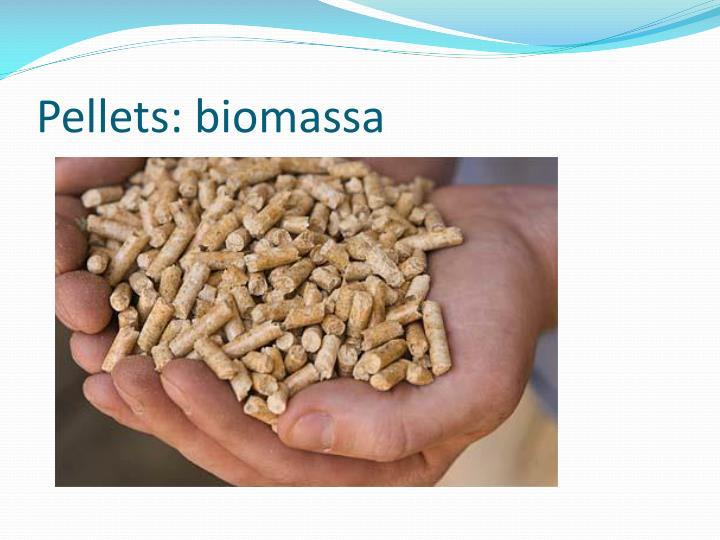 Pellets: biomassa