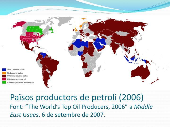 Pasos productors de petroli (2006)