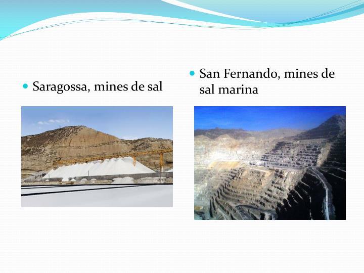 Saragossa, mines de sal