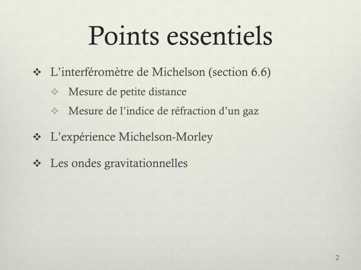 Points essentiels
